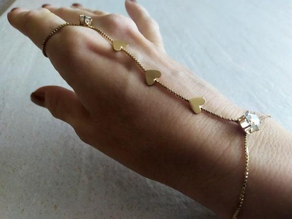 Chain Crystals Slave Bracelet   Hand Chain Crystal