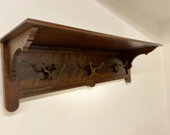 Custom Coat Rack and Shelf