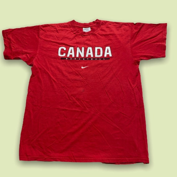 Red Canadian 00s Nike 'Canada Basketball' Basketba