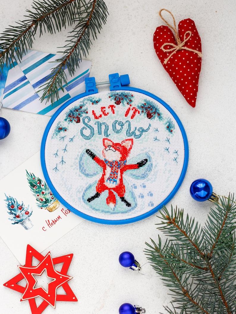 DIY Cross stitch kit.DIY hoop wall art