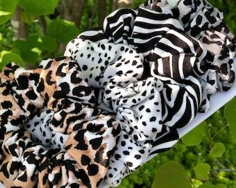 Scrunchies - Animal Prints, Bamboo Jersey Scrunchies, Scrunchie Packs, Hair Accessories, Hair Tie