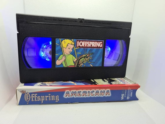 Retro VHS lamp THE OFFSPRING. Perfect for man cave, americana, gift for offspring fan, music lovers gift, pretty fly for a white guy, retro