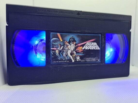 Retro VHS lamp STAR WARS. Perfect for man cave, movies, movie memorabilia, birthday gift for star wars fan, luke skywalker, birthday present