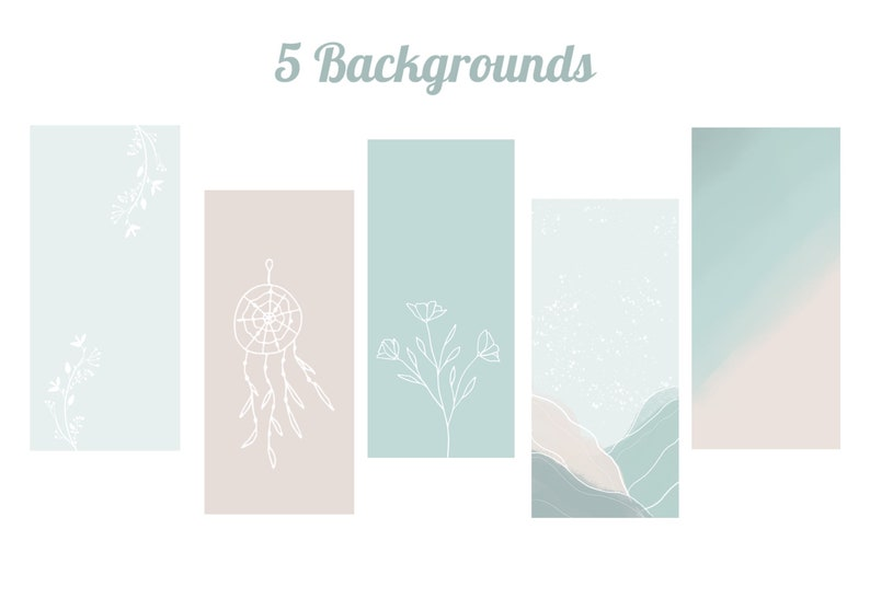 Turquoise and Blush App Icons 350 App Covers for Iphone Home Screen IOS 14 Boho Pastel Aesthetic Apps Soft Pastel Themed Icon Pack