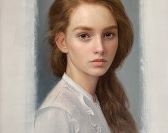 Custom Oil Painting from Photo. Realistic Handmade Portrait on Canvas