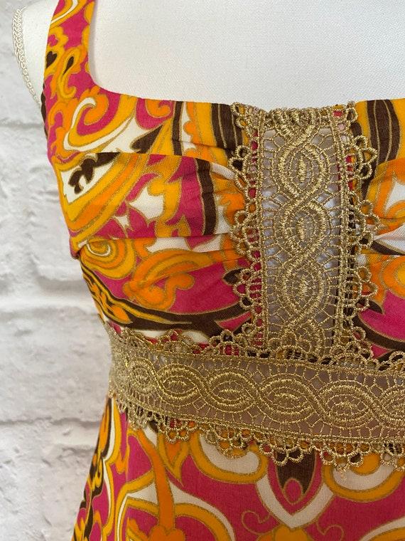 PAISLEY MINI DRESS Cool Mod Vtg Style - image 2