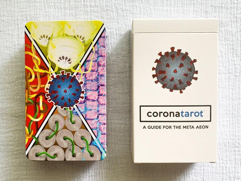Coronatarot the Pandemic in a Box 78 card tarot deck  bonus image 0