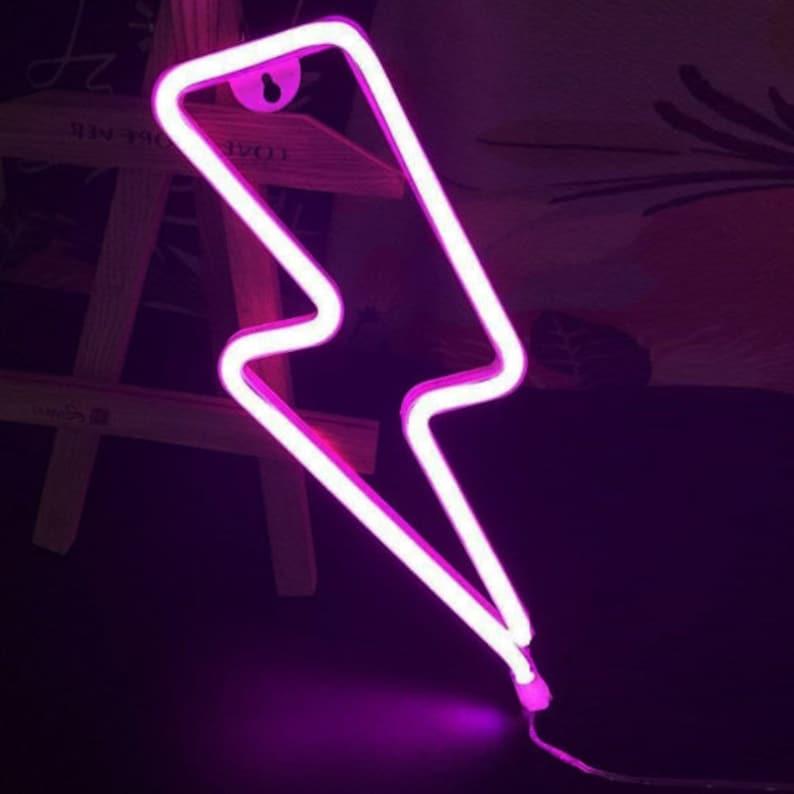 Fulmine Bolt / Luce neon LED Luci di segno per Wall Mount wYdPvz13