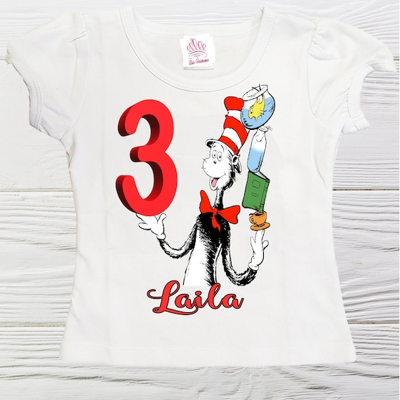 New Personalized Character Dr Seuss Birthday Shirt