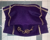 Crown Royal Whiskey Recycled bag Face Mask With Nose Wire and Filter Pocket Cute