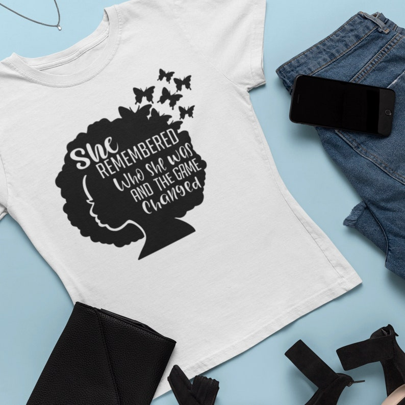 Girl Power Cut File for Cricut Positive Quotes Motivational svg She remembered who she was /& the game changed SVG Blm Silhouette