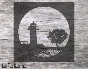 Cutting File SHADOW IMAGE LIGHTHOUSE svg + dxf