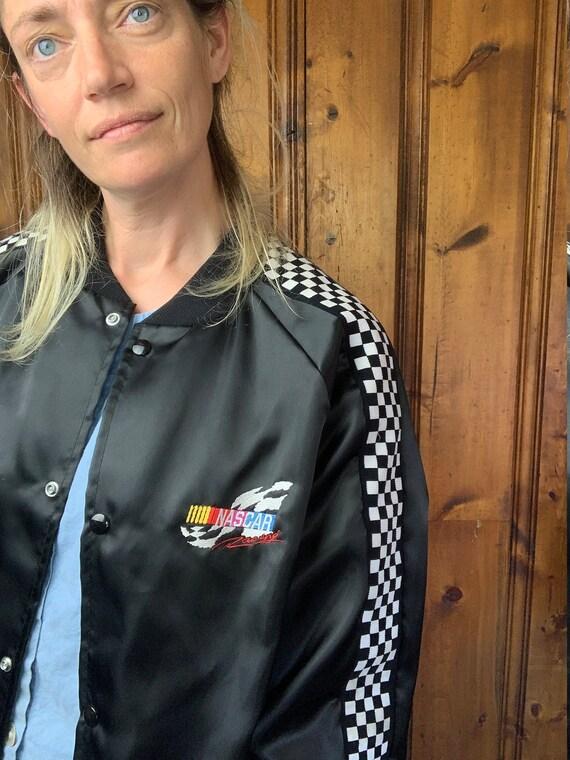 AWESOME NASCAR 80s satin jacket - like new!