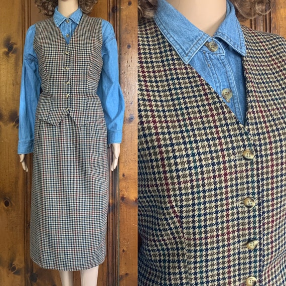 USA made Pendleton houndstooth suit
