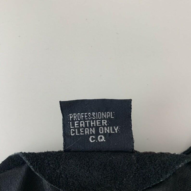 Vintage Katch Me San Francisco Leather Vest Embroidered Floral Black Button Up