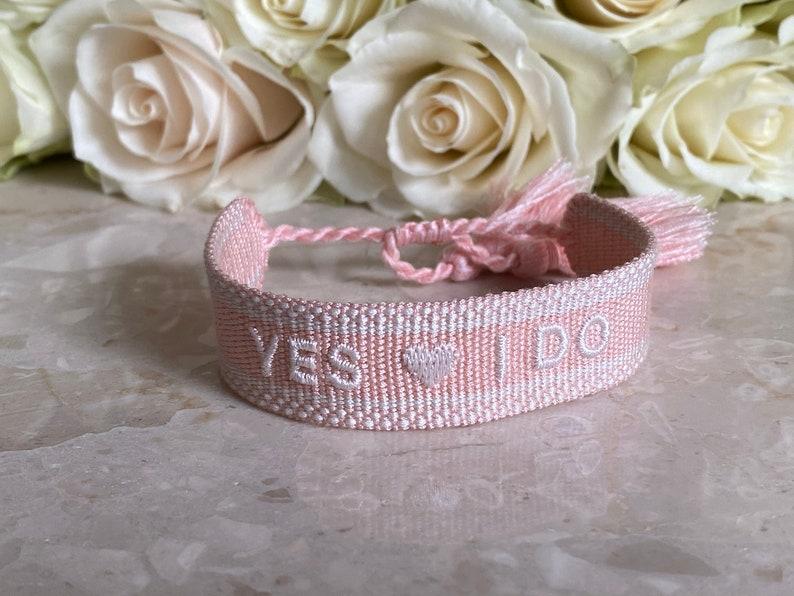 YES I DO  Bridal Bracelet made of Canvas / JGA Jewelry image 0