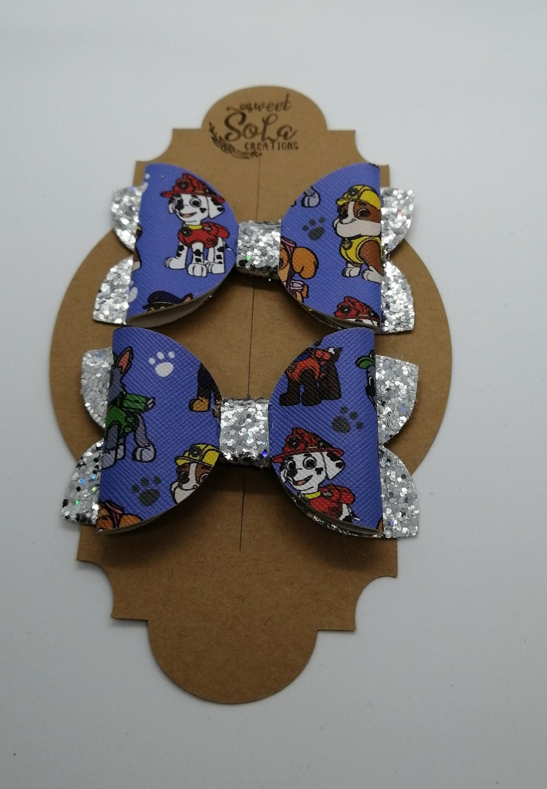 Set of 2 pigtail bows