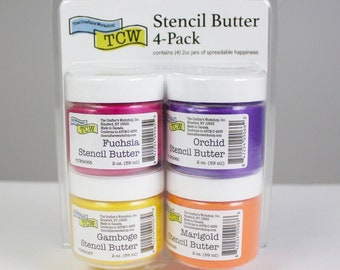 STENCIL BUTTER COLLECTION, 4 pack, Mardi Gras, The Crafters Workshop , stencil paste, paint