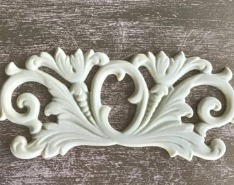 EFEX Neo Classical Pediment, Moulding, Historic Moulding, Silicone Moulding, Embellishment , Furniture Restoration , FREE SHIPPING