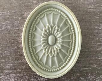 EFEX Adams Rosette, Moulding, Historic Moulding, Silicone Moulding, Embellishment , Furniture Restoration , FREE SHIPPING