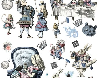 New Dixie Belle Alice in Wonderland transfer, rub on decal , furniture transfer, Belles & Whistles Shipping Late March