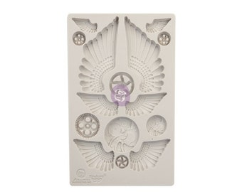 Finnabair Cogs and Wings Mold with Free Shipping ,  5 x 8 Silicone Mold