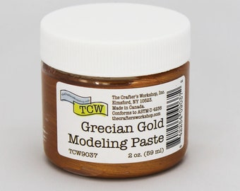Stencil Paint, The Crafters Workshop Grecian Gold Modeling Paste, Metallic Paste, Metallic Paint