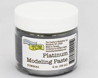 Stencil Paint, The Crafters Workshop Platinum  Modeling Paste, Metallic Paste, Metallic Paint