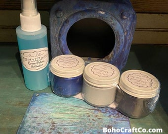 Miss Lillian's Patina Paint Kit, Lapis Kit, Best Patina , Craft Kit, DIY Kit,  Free Shipping