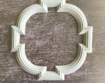 EFEX Art Deco Frame , Moulding, Historic Moulding, Silicone Moulding, Embellishment , Furniture Restoration , FREE SHIPPING