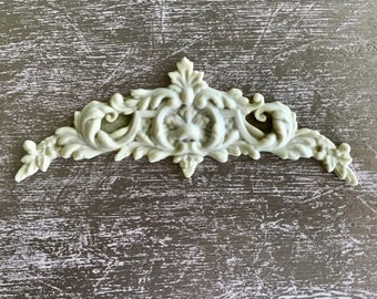 EFEX French Style Pediment, Moulding, Historic Moulding, Silicone Moulding, Embellishment , Furniture Restoration , FREE SHIPPING