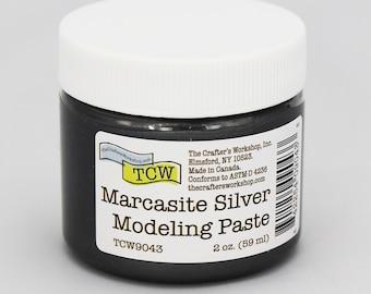 Stencil Paint, The Crafters Workshop Marcasite Silver Modeling Paste, Metallic Paste, Metallic Paint