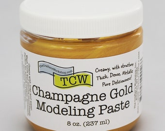 Stencil Paint, The Crafters Workshop Champagne Gold Modeling Paste, Metallic Paste, Metallic Paint