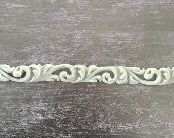 EFEX French Floral Trim , Moulding, Historic Moulding, Silicone Moulding, Embellishment , Furniture Restoration , FREE SHIPPING