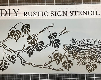 Blessed Nest Stencil , Sign making stencil , The Crafters Workshop, reusable stencil,  long stencil ,  16.5 inch x 6 inch, Made in USA