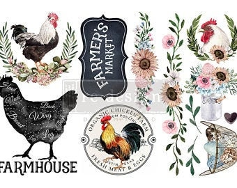 Get all 8 FARMHOUSE Rub on Transfers in one money saving Bundle,  Small Redesign Prima Transfers FREE Priority Shipping USA