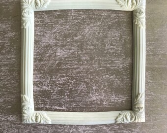 EFEX Square Frame with Flowers, Moulding, Historic Moulding, Silicone Moulding, Embellishment , Furniture Restoration , FREE SHIPPING