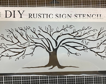 Family Tree Stencil , Sign making stencil , The Crafters Workshop, reusable stencil,  long stencil ,  16.5 inch x 6 inch, Made in USA