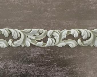EFEX Rococo Acanthus Leaf Trim , Moulding, Historic Moulding, Silicone Moulding, Embellishment , Furniture Restoration , FREE SHIPPING