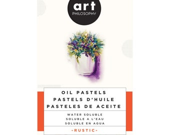 Water Soluble Oil Pastels, Rustic , Art Philosophy, free shipping