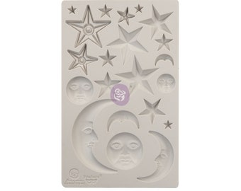 Finnabair Stars and Moon with Free Shipping ,  5 x 8 Silicone Mold