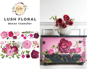 New Prima Redesign Transfer LUSH FLORAL 1 with Free Shipping