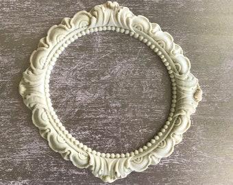 EFEX Round Leaf Frame, Moulding, Historic Moulding, Silicone Moulding, Embellishment , Furniture Restoration , FREE SHIPPING