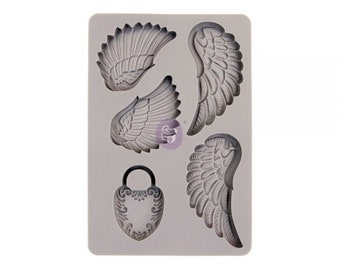 Finnabair Wing and Locket Mold with Free Shipping ,  5 x 8 Silicone Mold