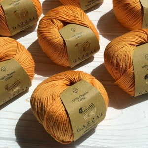yarn cotton semi cotton 105 meters knitting crochet 50 grams XL BABY COTTON Gazzal