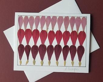 Card:  Framed flowers