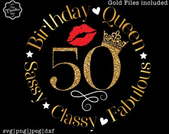 50 and fabulous svg, 50 and fab svg, 50th birthday svg for women, 50th birthday svg, 50 years old svg, fifty birthday svg, fabulous 50 svg
