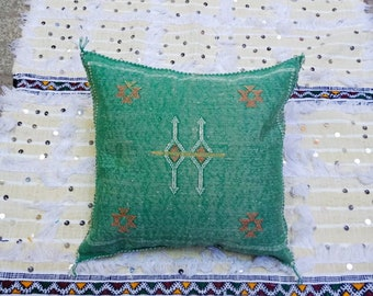Berber Cotton   Pouf Cover Berber  Cushion Pillow Decorative Pouf  Cover CTSP02 Moroccan wedding  Pouf Cover Moroccan Handira Pillow