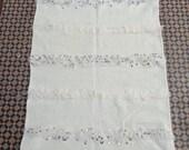 Moroccan wedding blanket 5 Ft 3 Ft .handira Berber handmade rug with withe sequins Authentic Azilal area rug.throw blanket area handira