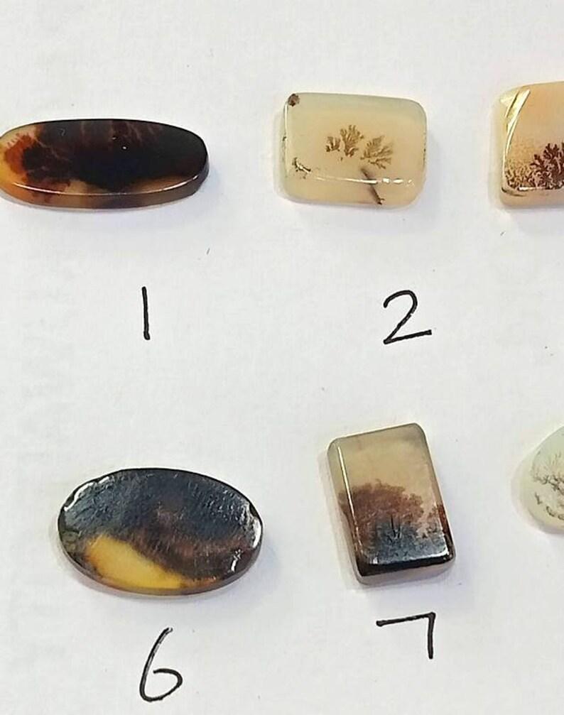 2 Piece Lot Natural Dendrite Agate Handmade Jewelry Gemstone Cabochon Natural Dendrite Agate Cabochon